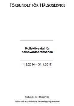 Ruotsinkielinen Terveyspalvelualan työehtosopimus